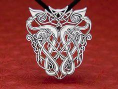 Sterling Silver Celtic Hounds Pendant