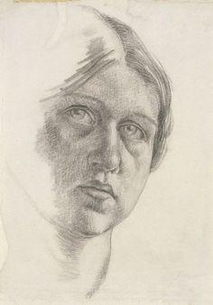 Dora Carrington, self portrait of the Bloomsbury painter