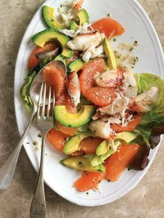 Grapefruit, Avocado & Crab Salad