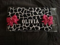 Black and white personalized wipe case
