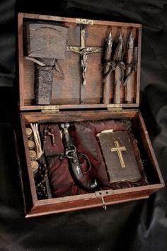 Authentic antique vampire killing kit
