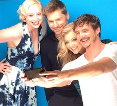 Gwendoline Christie (Brienne of Tarth), Nikolaj Coster-Waldau (Jaime Lannister), Natalie Dormer (Margaery Tyrell), and Pedro Pascal (Oberyn Martell)