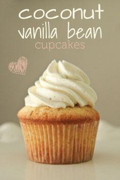 coconut vanilla bean cupcakes