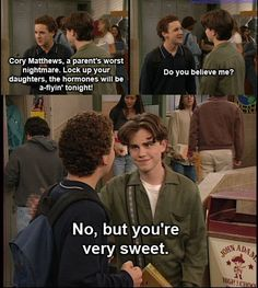 boy meets world...shawn's smile <3