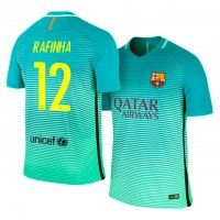FC Barcelona Third 16-17 Season #12 Rafinha Green Soccer Jersey