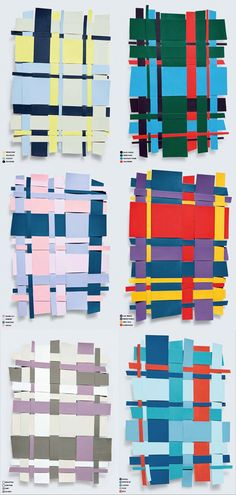 Colour use and uneven weaving Kate Lewis. Lewis is a photographer living in Dubai with a gifted eye for chic, modern, magazine-worthy moments. She recently shared these still life color collages from the March edition of Harper's Baazar Interiors Paper Weaving, Weaving Textiles, Fabric Manipulation, Color Stories, Art Plastique, Elementary Art, Textures Patterns, Textile Art, Colorful Interiors