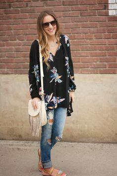 Floral Tunic, Nordstrom Picks + #WIWT | Twenties Girl Style