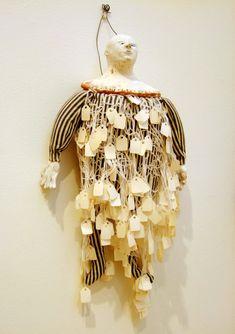 Juliellen Byrne   DOLL SERIES 9: TAG   ceramic, cotton, sawdust, paper tags