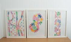 Set of three. Petal Dust, Cut Work, Surface Design, Paper Cutting, Framed Artwork, Artworks, Colour, Inspiration, Color