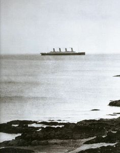 One of the last photographs of Titanic. Taken from the shore of Ireland.
