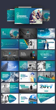 Buy Glory Presentation - Business Pack Powerpoint Template by BrandEarth on GraphicRiver. Overview: Flat, Clean, Minimalist, Elegant and Flexible PowerPoint Presentation Template, perfect for presentation c. Template Web, Powerpoint Design Templates, Ppt Design, Slide Design, Corporate Design, Corporate Presentation, Presentation Design, Social Media Poster, Social Media Design