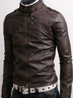 DARK BROWN LEATHER JACKET http://www.alanic.com/buy-mens-clothing/designer-jackets/leather-jacket-for-man/dark-brown-leather-jacket