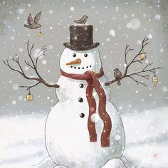 Snowmen Paintings, Christmas Paintings, Animal Paintings, Christmas Canvas, Christmas Snowman, Christmas Ornaments, Snowman Ornaments, Christmas Trees, Snowman Shower Curtain