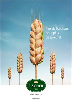 Fischer - Vous - 2011 Food Graphic Design, Creative Poster Design, Ads Creative, Creative Posters, Graphic Design Inspiration, Food Advertising, Creative Advertising, Advertising Poster, Advertising Design