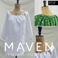 The Wendy Artisan Smock PDF sewing pattern tunic sewing