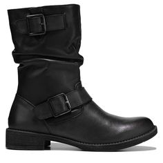 Propet Women's Tatum Slouch Medium/Wide/X-Wide Boots (Black Leather) Shoe Size Chart, Black Leather Boots, Womens Slippers, Fashion Boots, Character Shoes, Footwear, Clothing, Products, Clothes