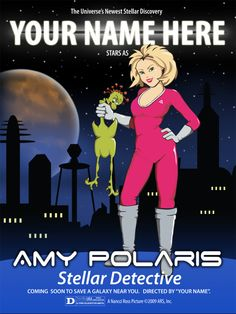 Personalize an Amy Polaris Superhero Poster on Fiverr. Perfect gift for the young lady in your life. #superhero