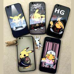 Alicia Bricki cute Pikachu & Stitch for funda Iphone 6/6s White