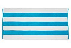Cabana Stripe Beach Towel, Aqua on OneKingsLane.com