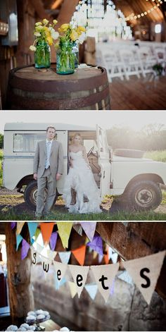 overall wedding was super adorable - country inspired