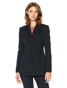 """A double breasted jacket with peak lapels and front welt pockets       Famous Words of Inspiration...""""The ear is the only true writer and the only true reader.""""   Robert Frost — Click here for more from Robert...  More details at https://jackets-lovers.bestselleroutlets.com/ladies-coats-jackets-vests/casual-jackets/product-review-for-theory-womens-power-jkt-jacket-vest/"""
