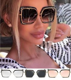 Fashion Mirror Sunglasses Women Popular Brand Designer Square Style Shades  Italy Óculos De Sol De Luxo 45b5883899