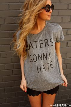 FOR MY HATERS HAHA! (LOVE THIS SHIRT) - ON MELANGE GRAY :) #FEELINGCELEB #LOL