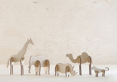 Plywood Animals