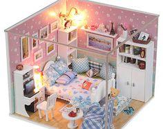 De miniatura bricolaje dormitorio miniatura casa por UniTime
