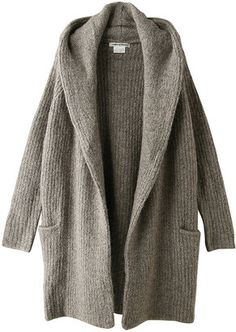 Cozy hooded knit coat / ShopStyle: Marilyn Moon マリリンムーン ウール混フード付きニットコート - shopstyle.co.jp