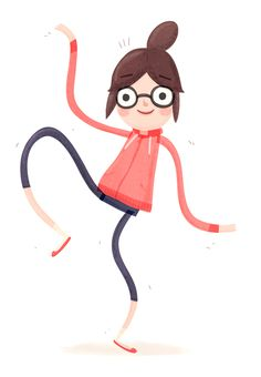 i've never seen a drawing that depicted me more perfectly.... bespectacled goof, always in a top knot and yoga pants. yess.
