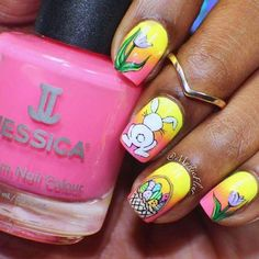 Easter Nail Designs and Ideas - 30 Fantastic Easter Nails Easter Nail Designs, Easter Nail Art, Nail Designs Spring, Cute Nail Designs, Spring Nail Art, Spring Nails, Summer Nails, Christmas Manicure, Holiday Nails