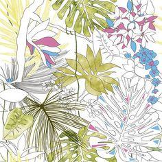 Jungle Floral Equatoriale Aggressive 24x24 Porcelain Tile | Tilebar.com Outdoor Flooring, Outdoor Walls, Wall And Floor Tiles, Wall Tiles, Master Bath Remodel, Commercial Flooring, Metal Trim, Tropical Birds, Bathroom Flooring