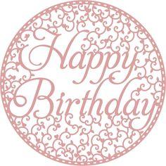 Intricut Happy Birthday Die 12.1 X 12.1 Cm   Hobbycraft