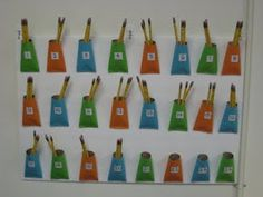 Pencil Pockets - 4 sharpened pencils a day, kids make sure they are sharpened at the end of the day.