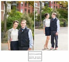 Brooklyn Heights Engagement Shoot, Brooklyn, NY I Natasha and Kevin   Sara Wight Photography