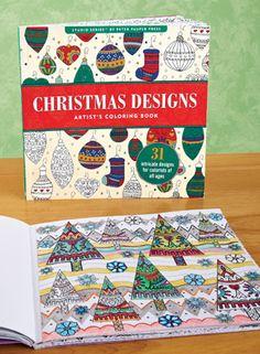 Christmas Art Designs Coloring Book
