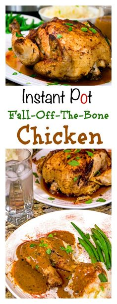 This whole chicken pressure cooker recipe for the Instant Pot makes fall-off-the-bone chicken using just a handful of ingredients. Fall in love with your Instant Pot, tonight!