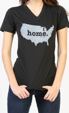 The new United States Home V-neck by The Home T is insanely soft, a great way to show off your state pride, and helps to raise money for multiple sclerosis research. You'll love it! They have a shirt for every state//