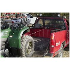 Truck Bed Rack and Winch - This headache rack with side rails not only protects your cab, but it includes a 2,000 lb capacity winch to load your quad or mower the easy way.