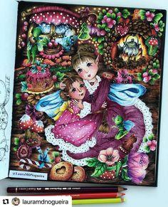 Markova, Colored Pencils, Illustrations, Coloring Books, Fairy, Magic, Photo And Video, Halloween, Instagram