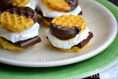 Smores Waffle Sliders sweets dessert treat recipe chocolate marshmallow party munchies yummy cute pretty unique creative food porn cookies cakes brownies I want in my belly ♥ ♥ ♥