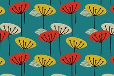 Retro Spring fabric by joanne_headington on Spoonflower - custom fabric