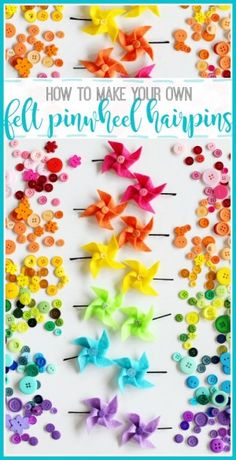 How to make your own felt pinwheel hairpins hairbows from  MichaelsMakers Sugarbee Crafts