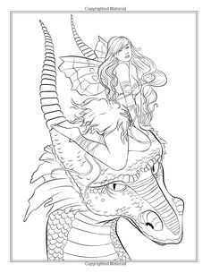 Fairy Companions Coloring Book - Fairy Romance, Dragons and Fairy Pets Fantasy Art Coloring by Selina: Amazon.de: Selina Fenech: Fremdsprachige Bücher