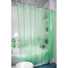 Bathroom Waterproof Fabric EVA Curtains 180X180cm 3D Water Cube Design Water Resistance Bathing Shower Curtain
