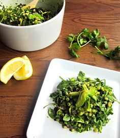 Green Couscous Salad with Fresh Herb and Avocado Paste