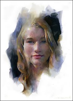 Stan Miller Watercolor Portrait - Noelle