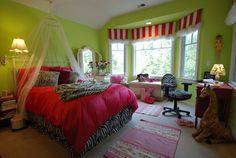 Los Altos Girl's Bedroom eclectic kids