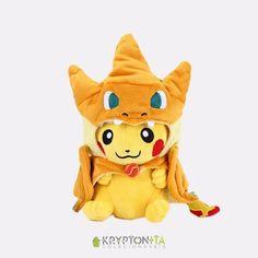Pelúcia Pokémon - Pikachu Mega Charizard Y 30cm